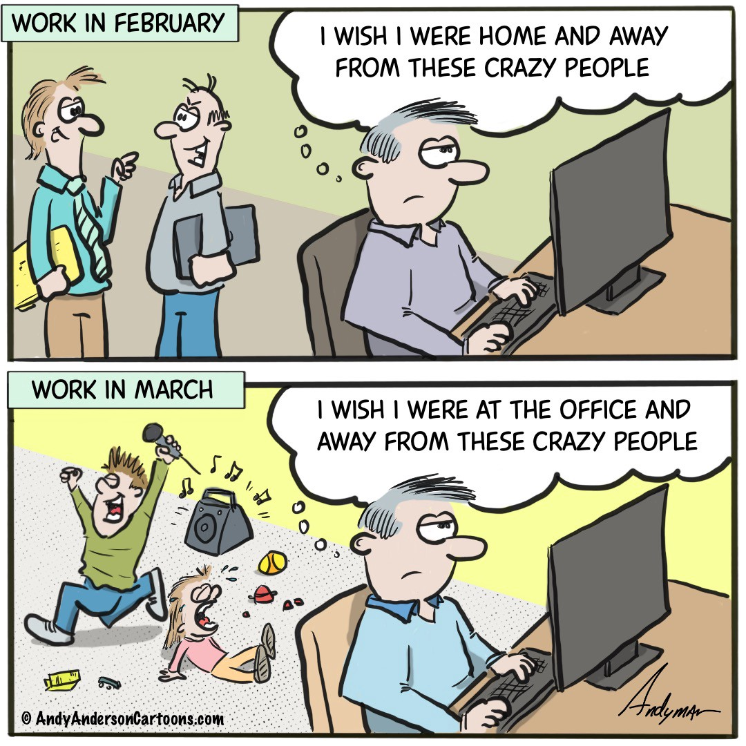 Smart Working - Andy Anderson Cartoons