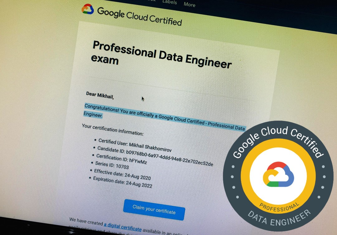 How I passed the Google Professional Data Engineer Exam in 2020