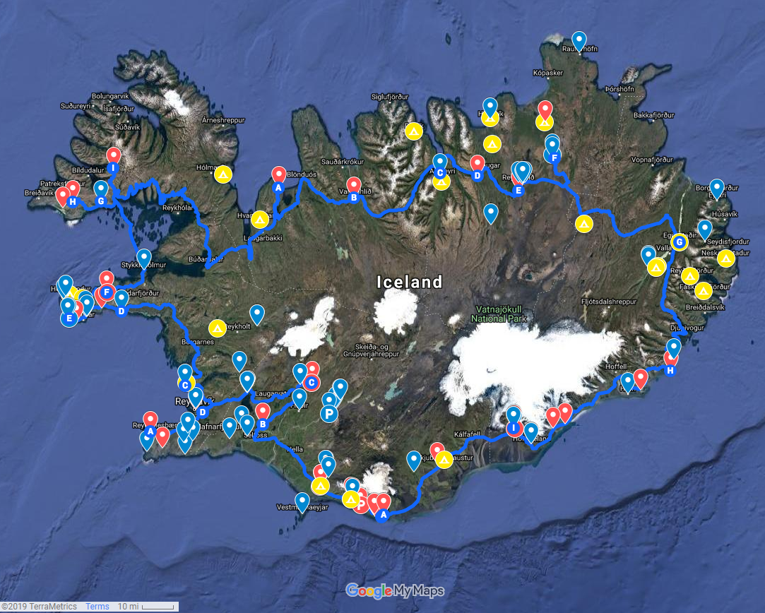 How to Use Google Drive Custom Maps to Plan Your Iceland