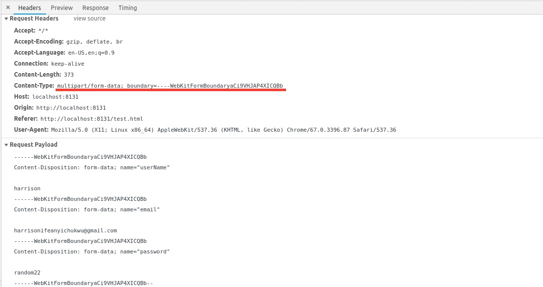 Why You Should Leave The Ua To Set The Multipart Content Type Header By Harrison Ifeanyichukwu Medium