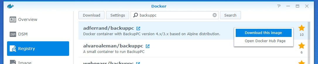 Use BackupPc on Synology NAS with Docker - Julien Pardons