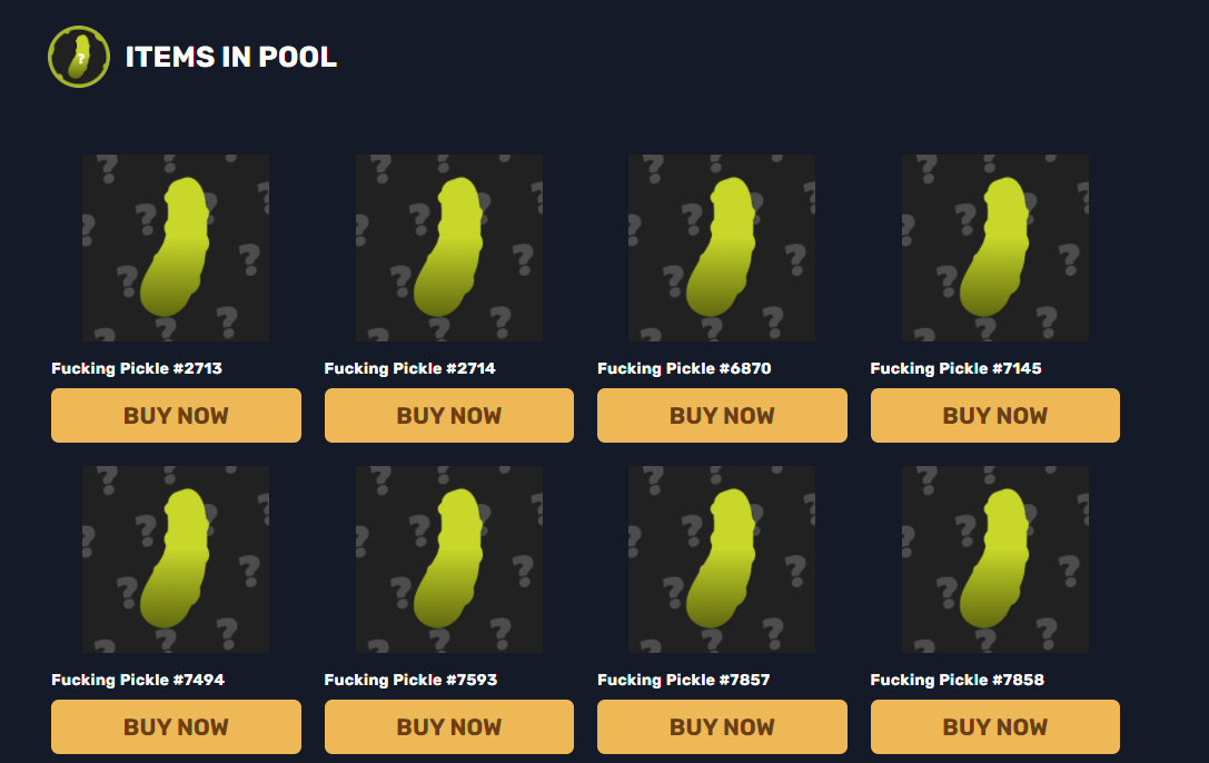 A Detailed Guide for using My Fucking Pickle NFT20 Pool