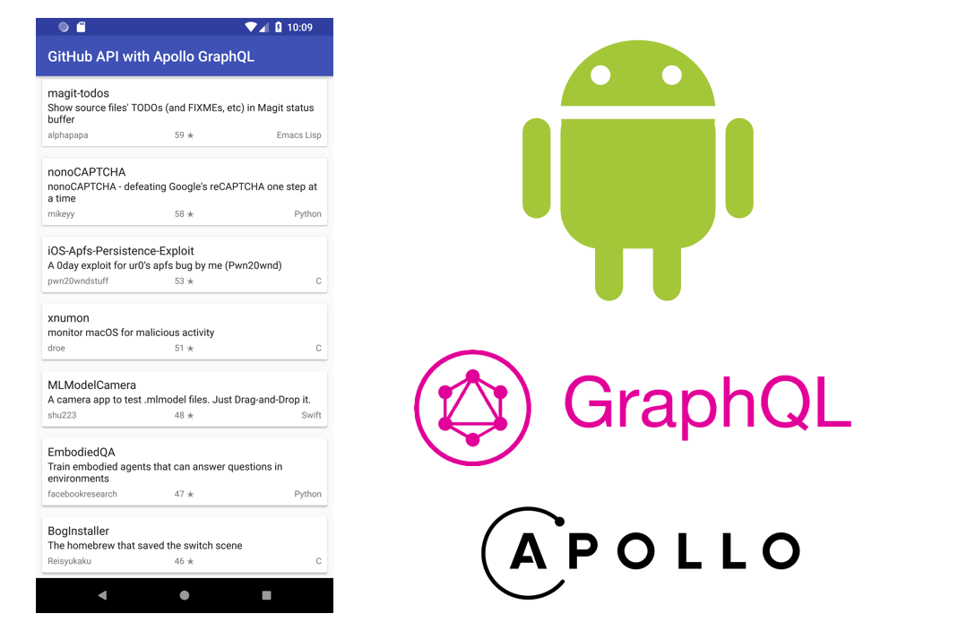 Using Github GraphQL Search API in Android App with Apollo