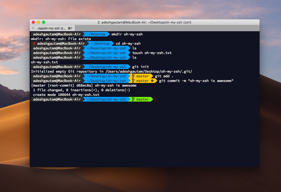 Power up your Terminal using Oh-my-Zsh + iTerm2 - The