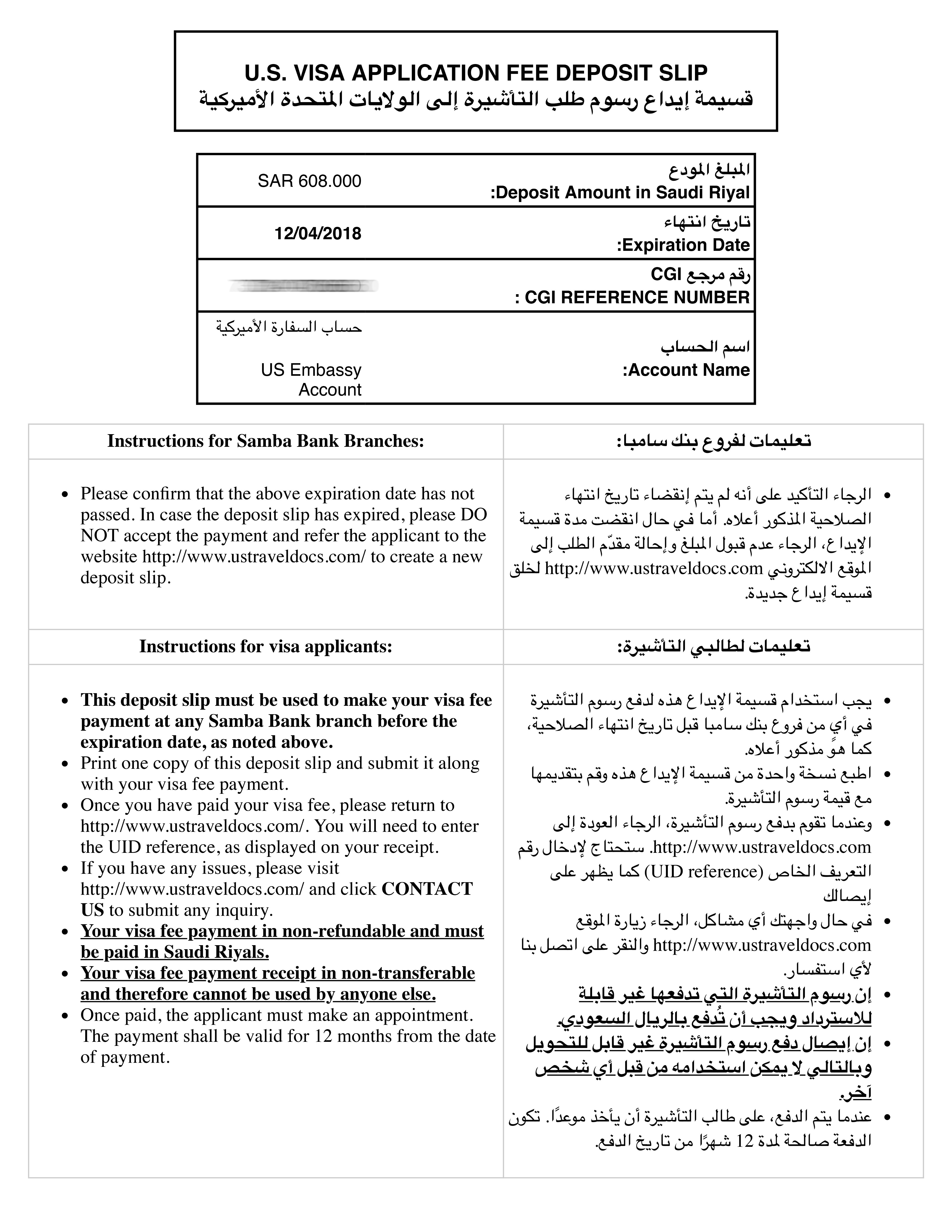 B1 Visa For The Us From Saudi Arabia