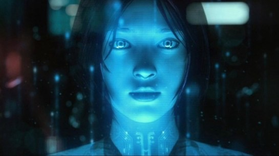 Image of Cortana from the video game Halo