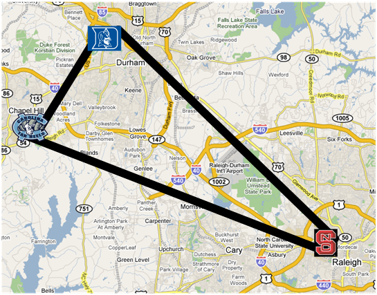 triangle area nc map The Triangle Briefly Explained This Information Is Not Backed By