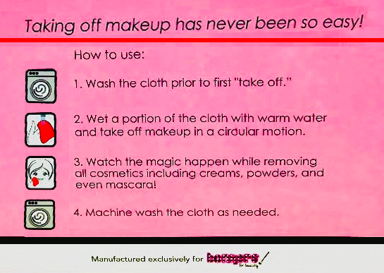 How does the makeup eraser towels work? - Take It Off Cloth - Medium