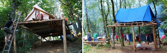 images d'installations scoutes