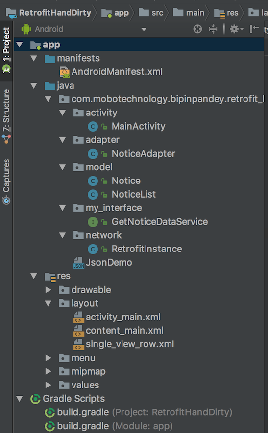 Using Retrofit 2 for web-services in Android with a simple demo project