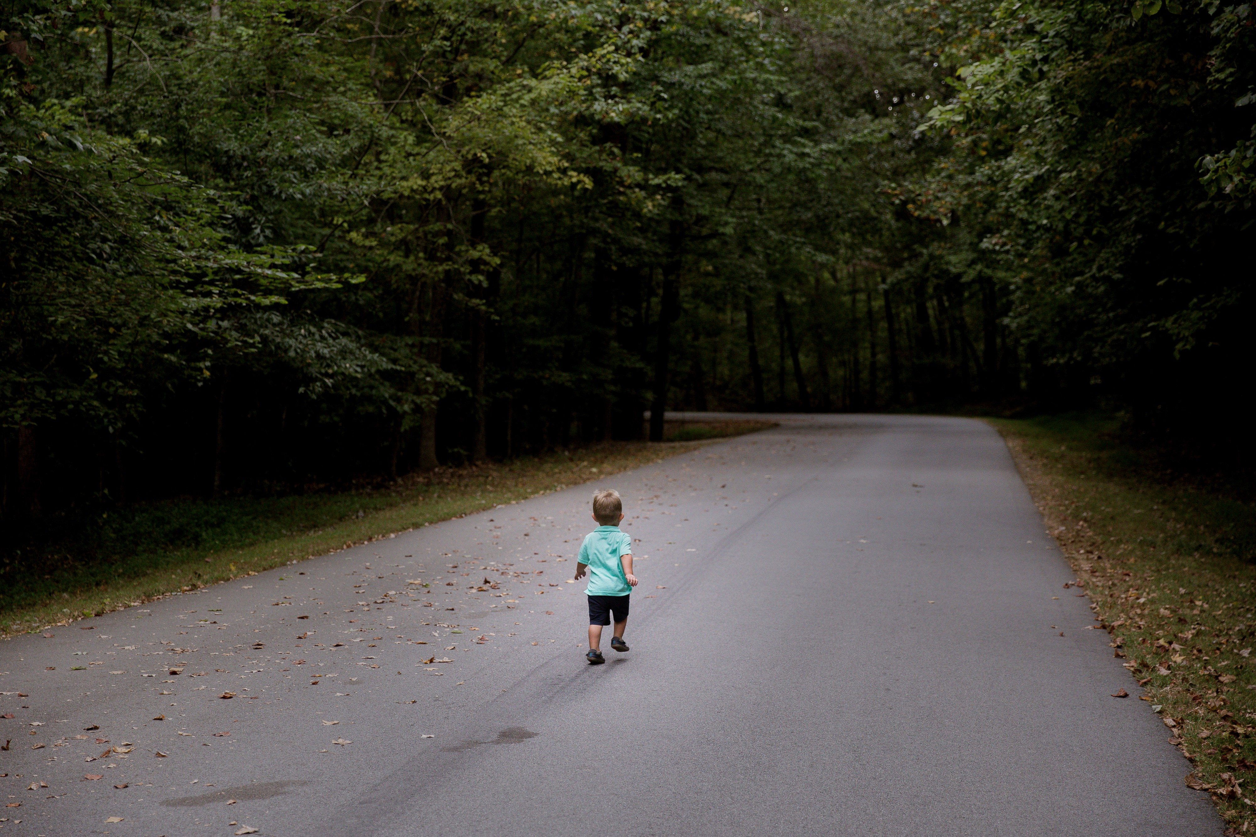 An adventerous child learning about the road of life