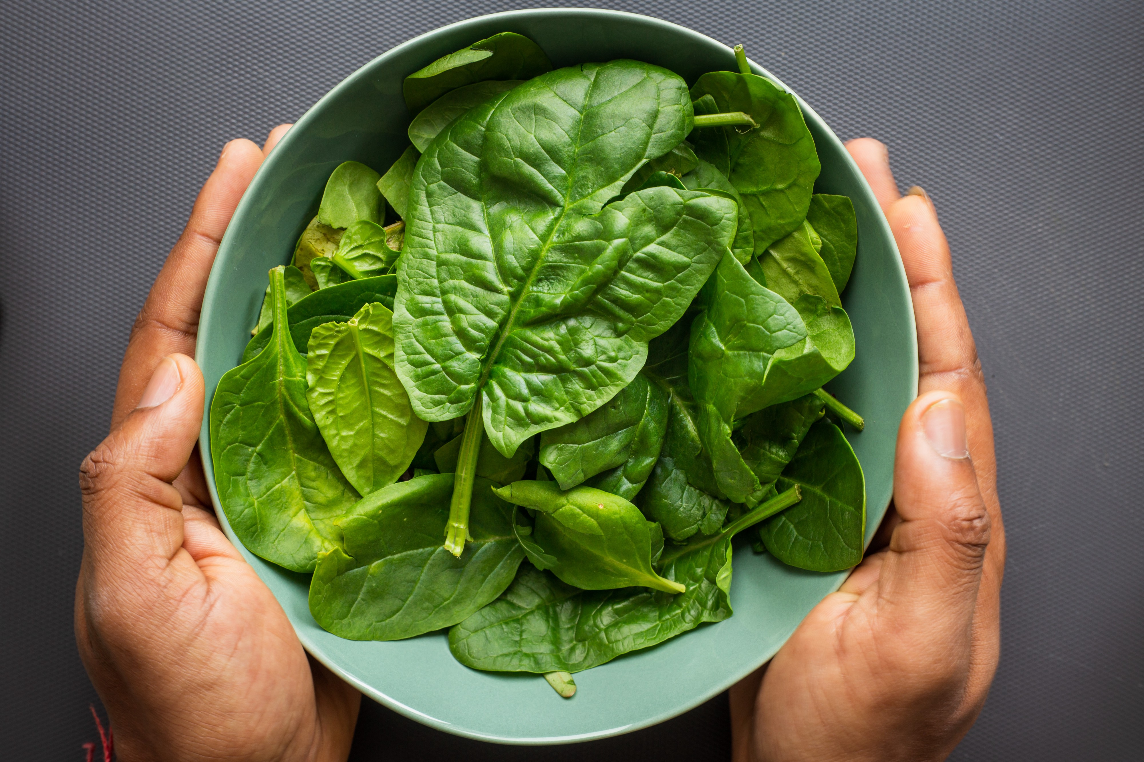 A bowl of greens