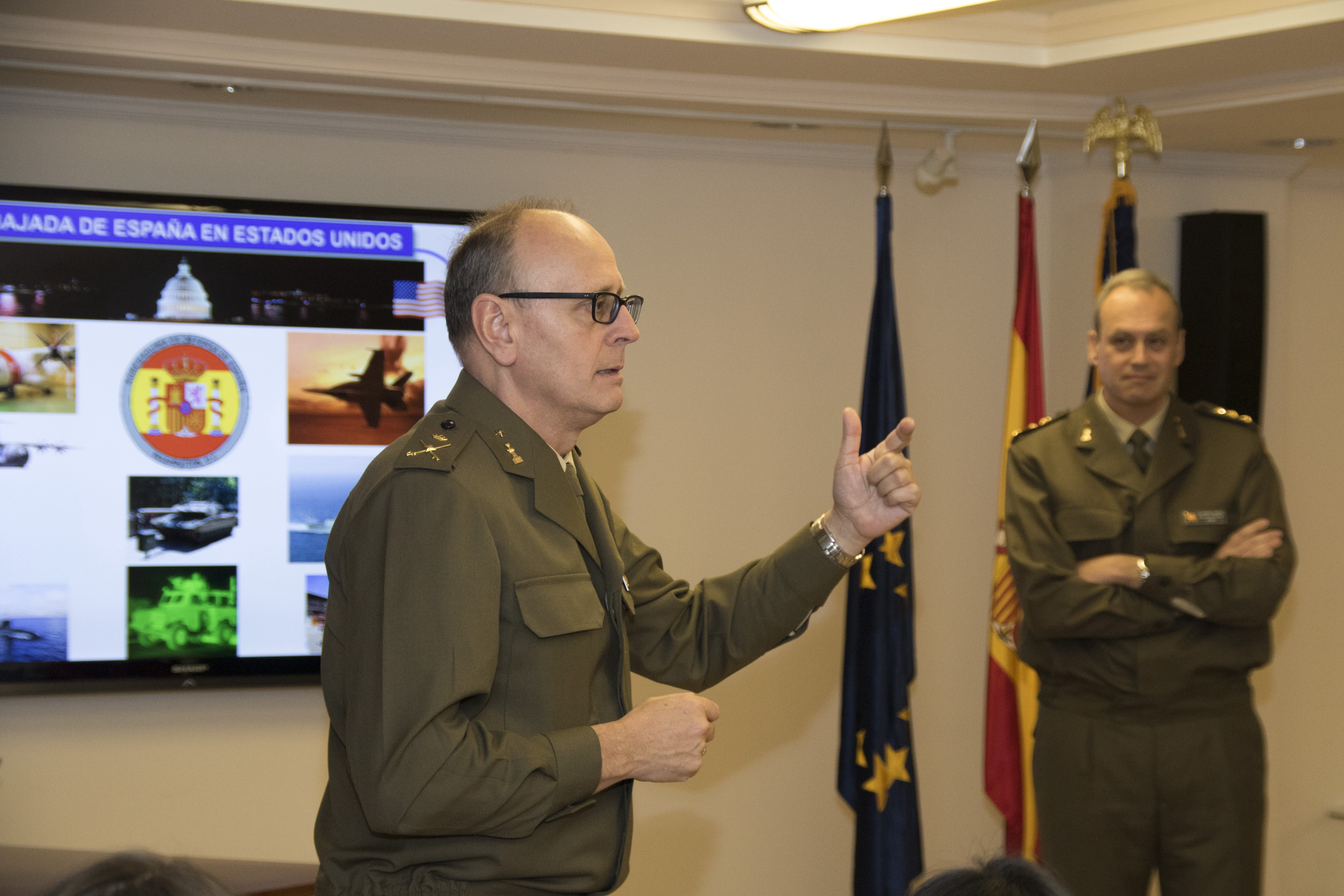 Interview with Spain's Defense Attaché in Washington, D C