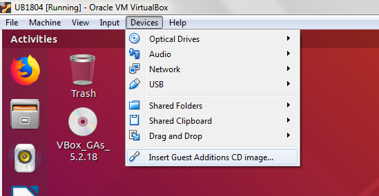 How to Install Guest Additions to Ubuntu VM in Windows VirtualBox