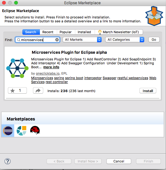 Microservices Plugin for Eclipse — alpha version