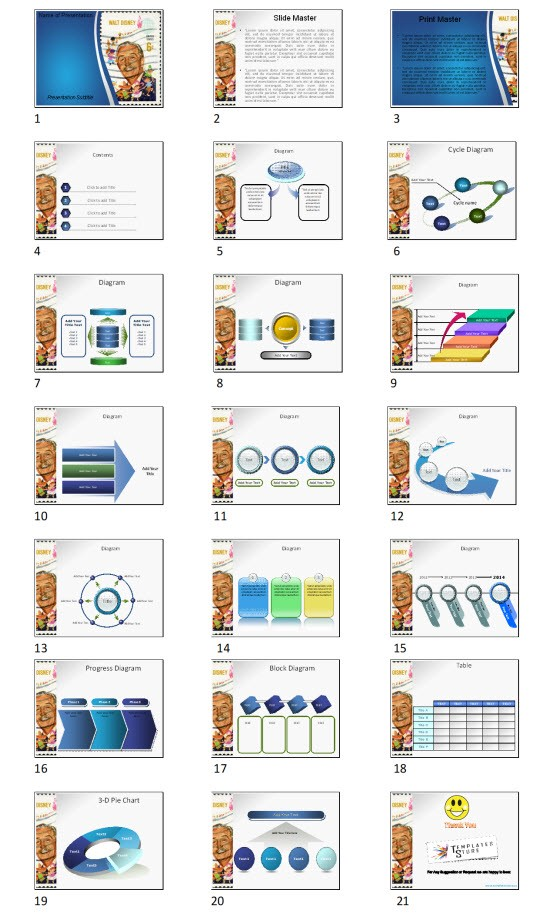 Walt Disney Powerpoint Template Ppt Slides Download Today By Ppt Templates Medium
