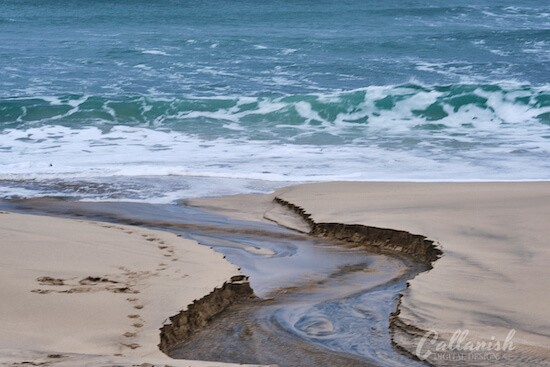Dalmore Beach, Isle of Lewis, the river running down to the sea