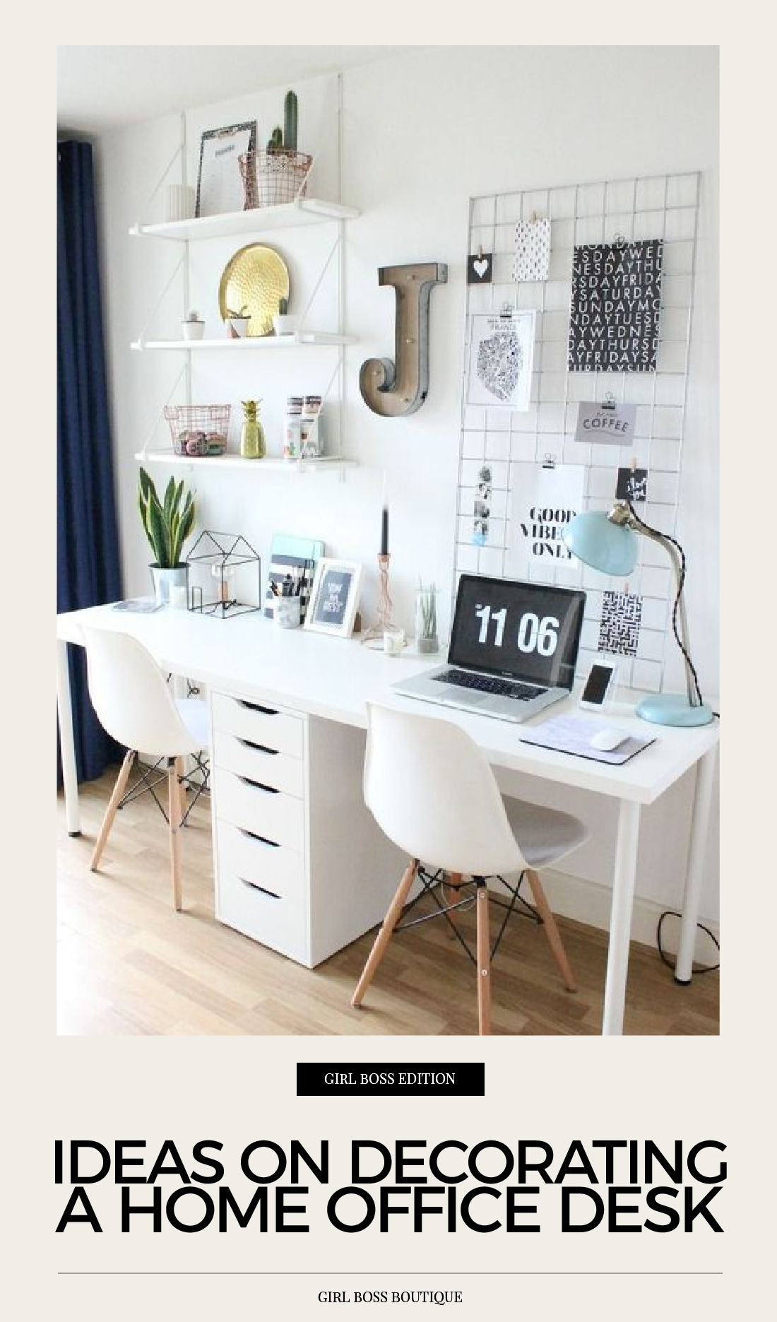 Ideas On Decorating A Home Office Desk Boss Boutique