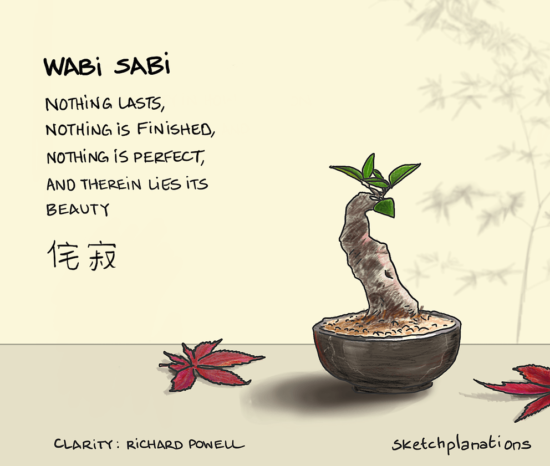 Wabi Sabi: Nothing lasts, nothing is finished, nothing is perfect, and therein lies its beauty.