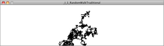 Random Walker Output (from Nature of Code Book)
