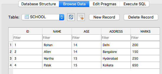 Programming with Databases in Python using SQLite