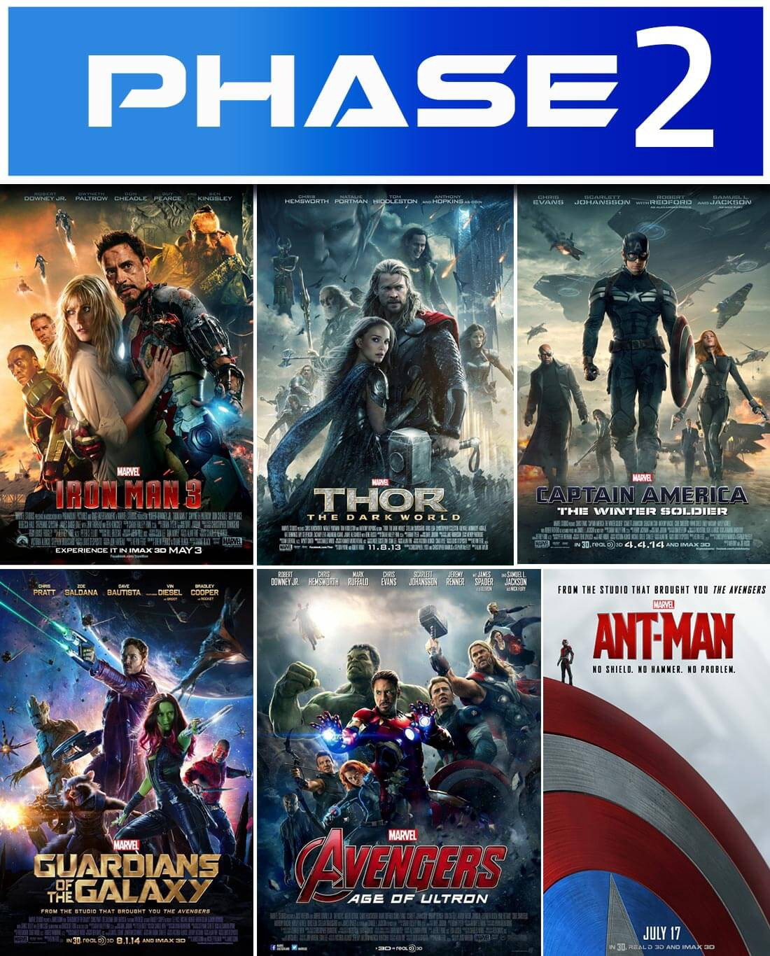 The Visual Guide to the Marvel Cinematic Universe : Phase 2