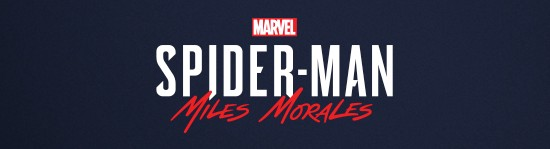 A black rectangle with the Marvel logo and the words Spider-Man Miles Morales.