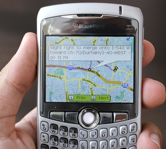 Google Maps on the Blackberry Curve