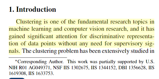 Archived Post ] Deep Clustering via Joint Convolutional Autoencoder