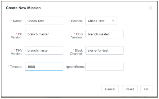 Create a testing mission