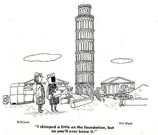 Leaning Tower of Pisa built on a weak foundation