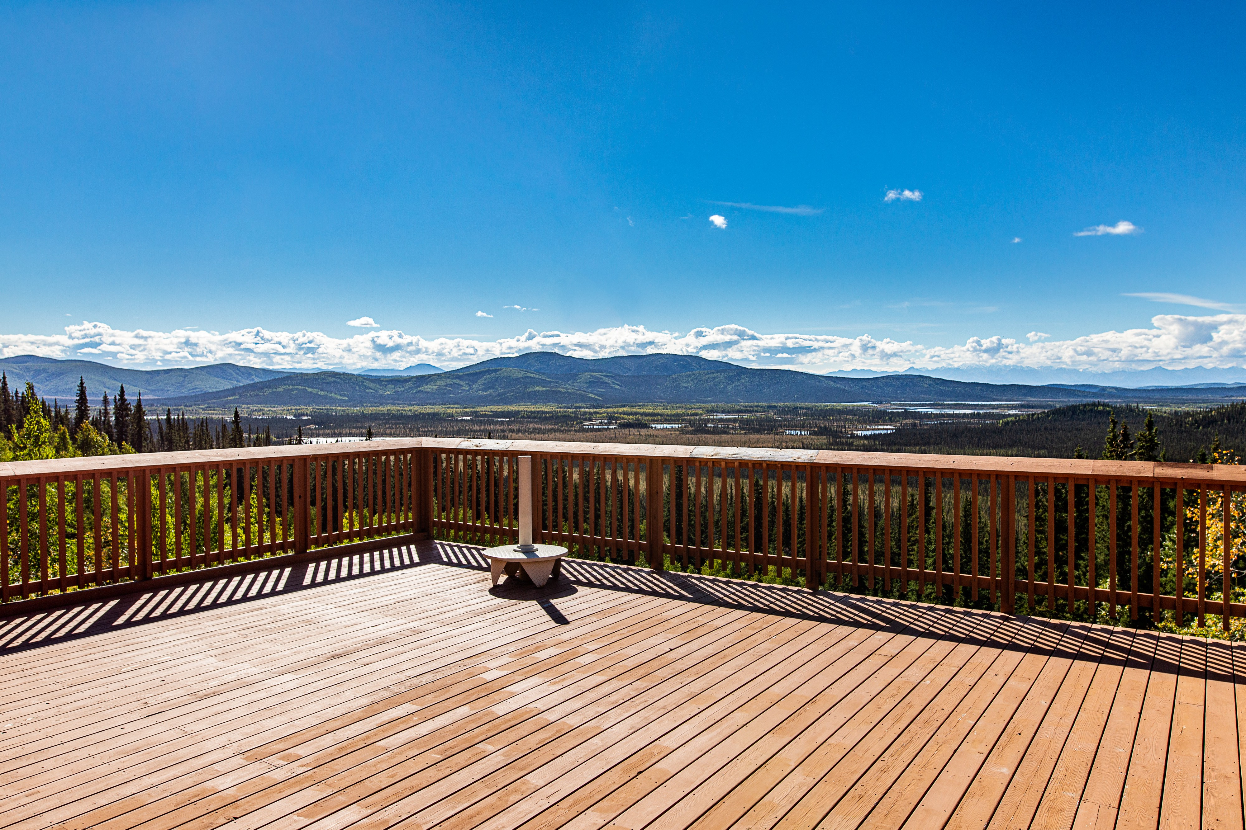 view of mountains/valley from Tetlin national wildlife refuge visitor center