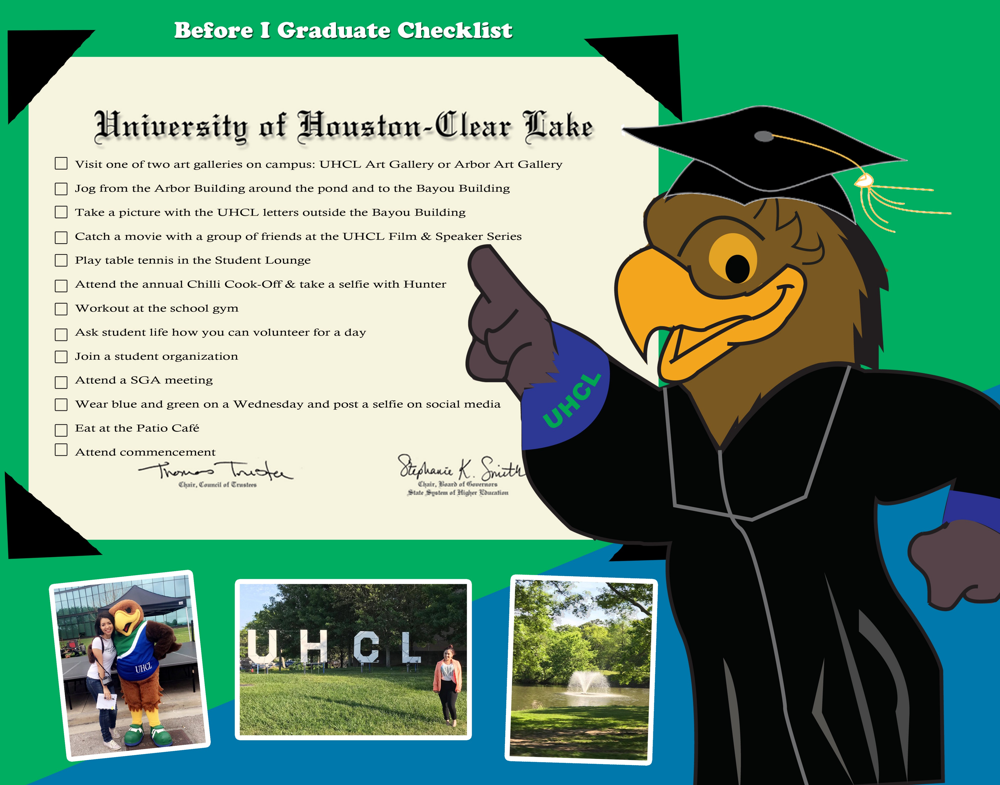 DOWNLOAD: Try this free UHCL graduation bucket list