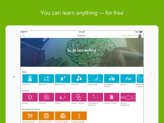 Khan Academy_5 apps to master your semester
