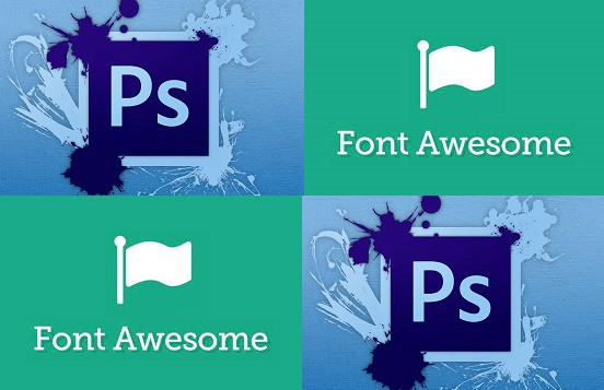 How To Use Font Awesome in Photoshop Designs - Jehoshaphat