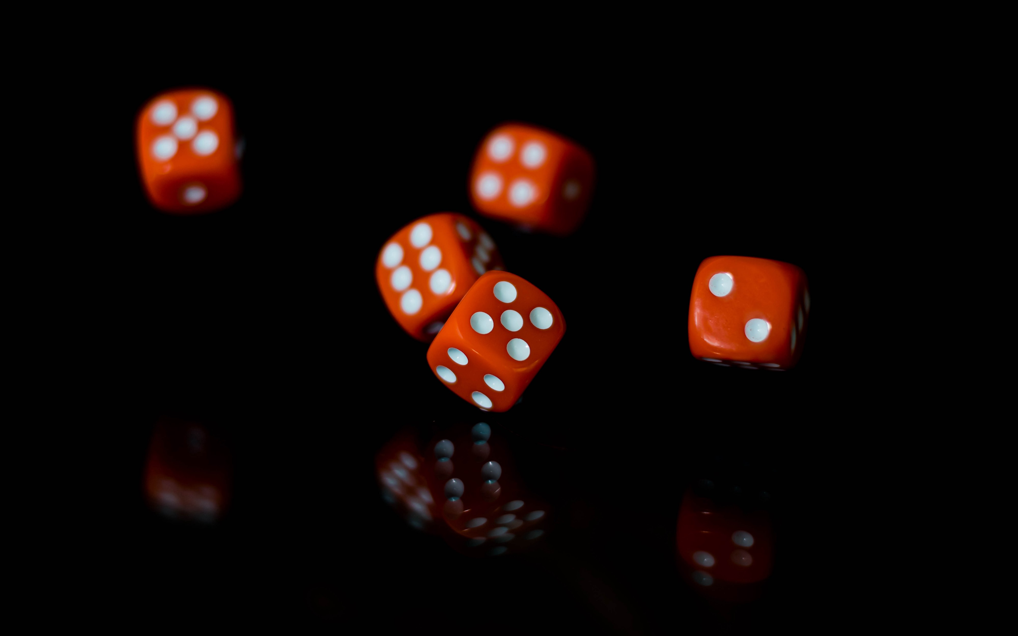A group of dice rolling