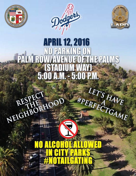 Opening Day advisory for Dodger Stadium on Tuesday: Come