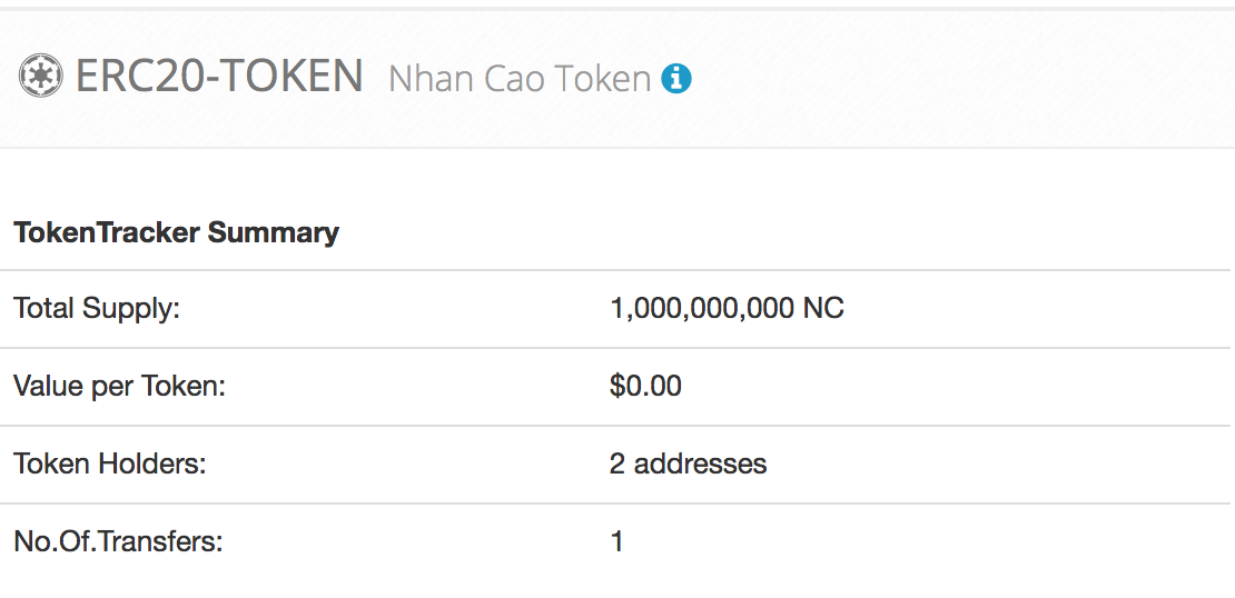 Issue Your Erc20 Token With Solidity On Ethereum Blockchain By Nhan Cao Medium