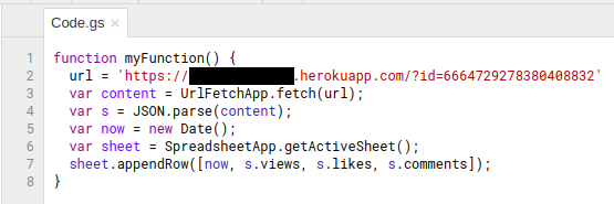 Google script to fetch data from API