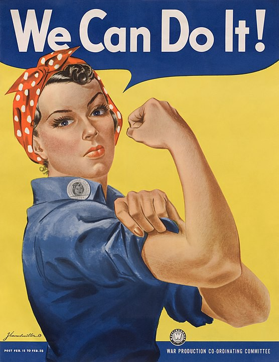 """We can do it!"" poster (1943) depicting Rosie the Riveter"