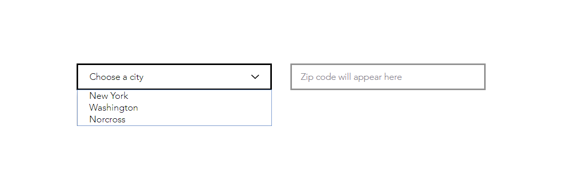 Autofill the field based on dropdown choice using Wix Code