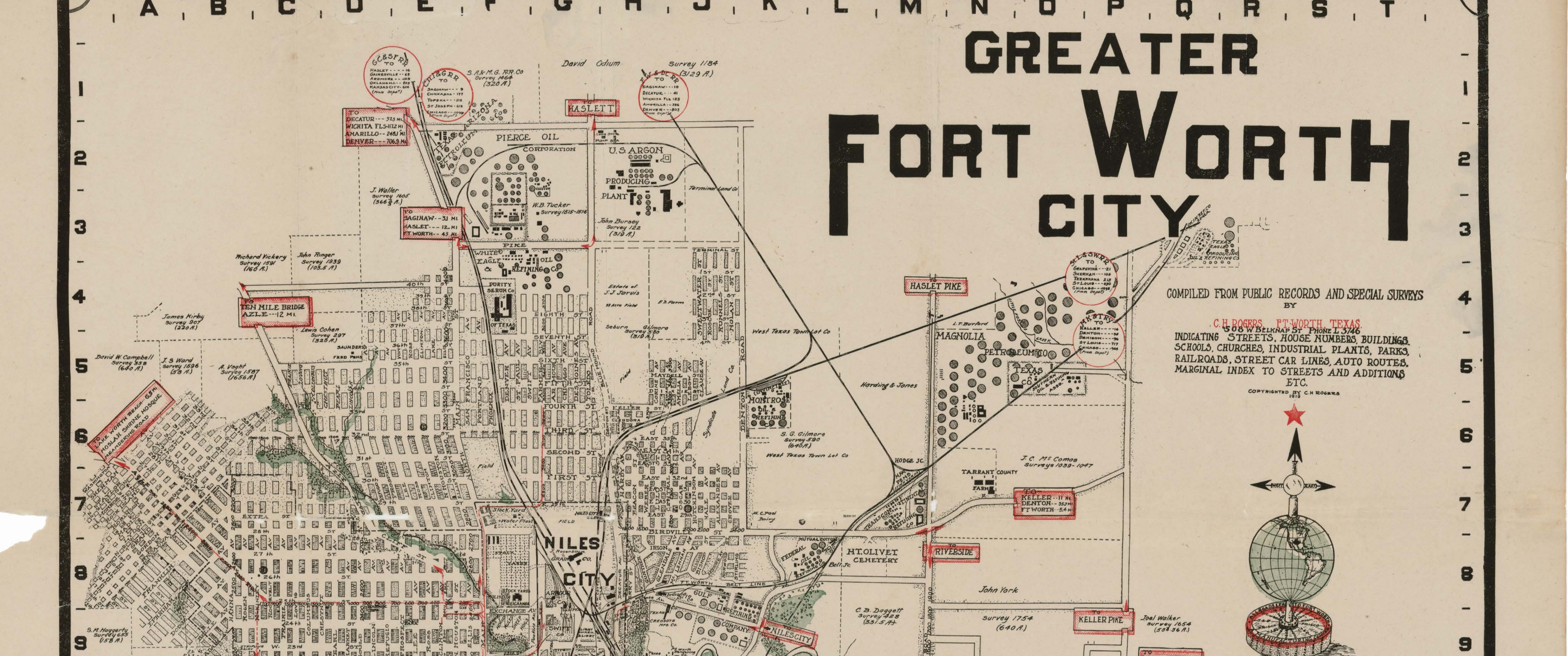 Greater Fort Worth City, 1919 - Save Texas History - Medium