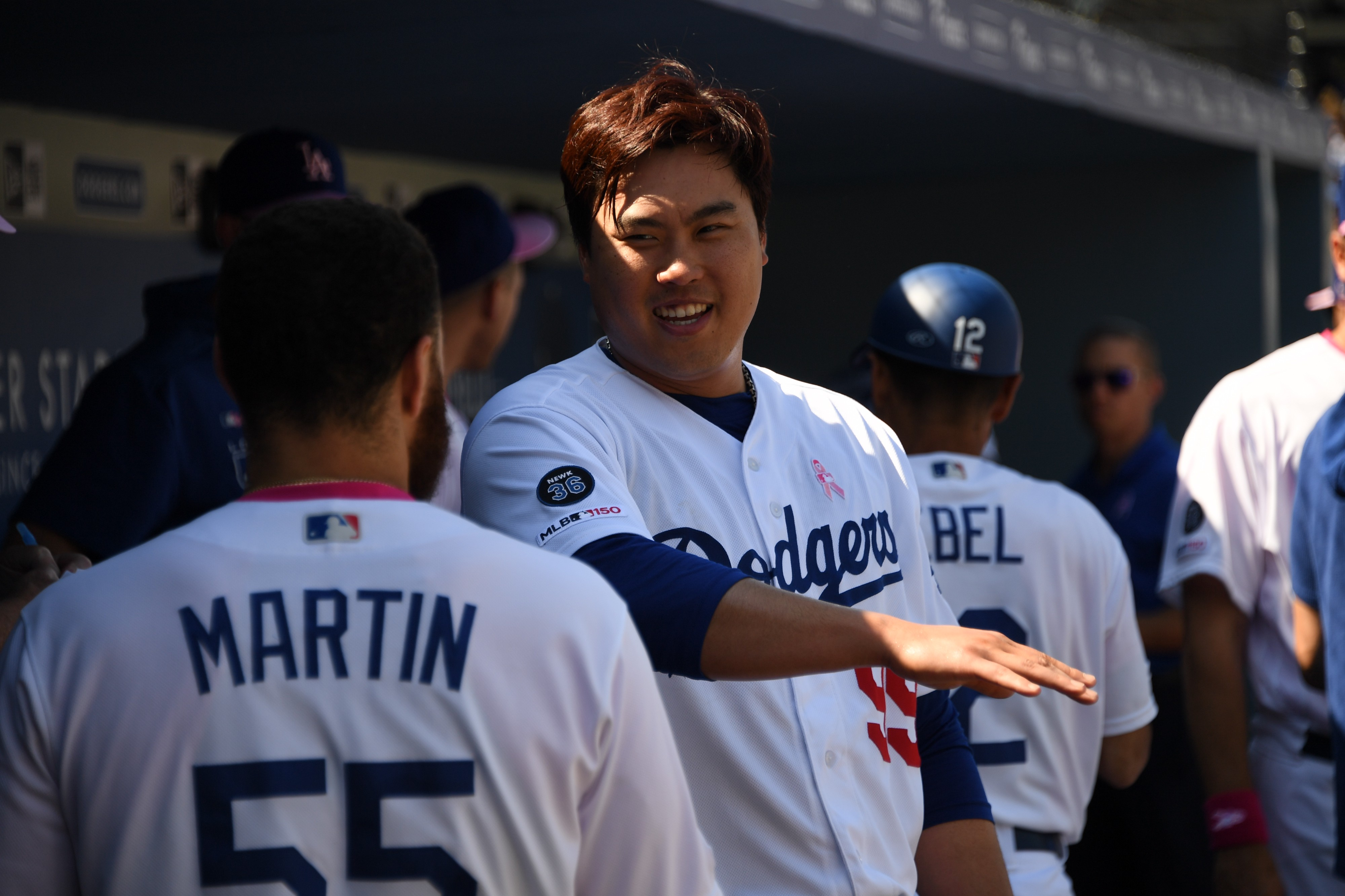 detailed pictures 8d49d 3979b Hyun-Jin Ryu named NL Pitcher of the Month for May - Dodger ...