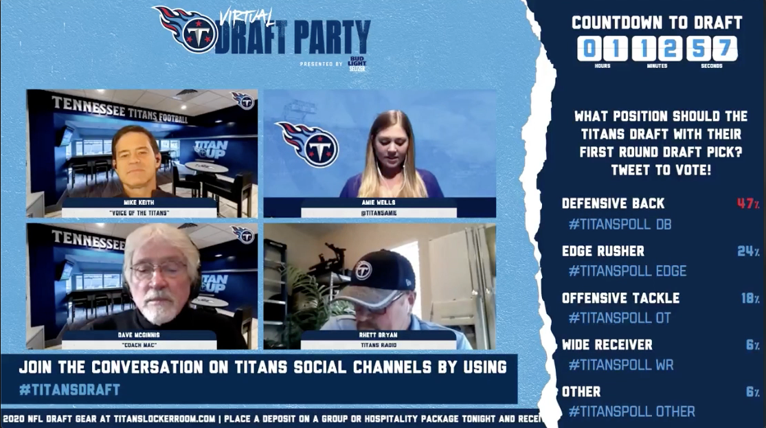 Titans 2020 NFL Draft Virtual Watch Party