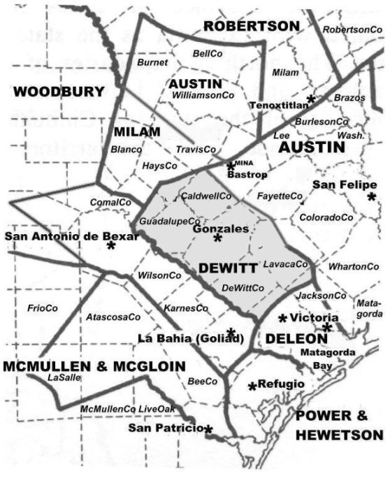 Connected Map of DeWitt's Colony compiled from the surveys ... on bossier texas map, city of gonzales map, victoria texas map, el paso texas map, cooke texas map, laredo texas map, webb texas map, galveston texas map, san jacinto texas map, california texas map, matamoros texas map, gonzales county map, texas state university texas map, yorktown texas map, midland texas map, college station texas map, la coste texas map, anahuac texas map, willacy texas map, goliad texas map,