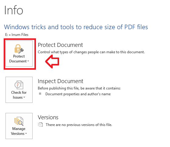 Secure and Password protect PDF files and documents in Microsoft Word