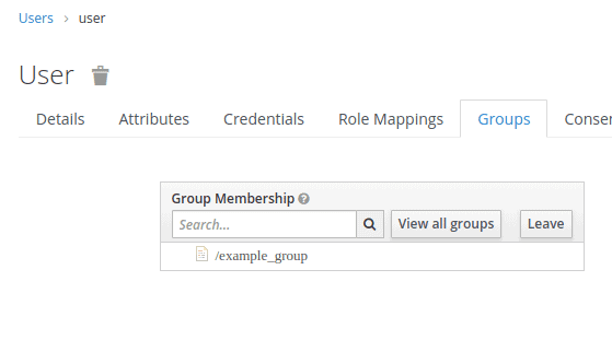 the image shows the view of user groups.