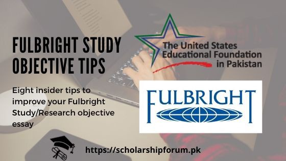 Fulbright study objective tips for a successful Fulbright scholarhsip application
