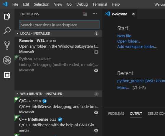 Everythin' i did to get vs code and wsl to work together for