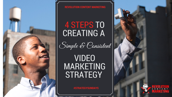 4 Steps to creating a simple & consistent video marketing strategy